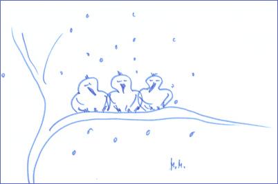 Die drei Spatzen - kurzes Wintergedicht von Morgenstern und Monika ...