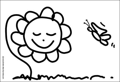 Einfache Ausmalbilder Mit Blumen Und Natur Zeichnungen Malvorlagen