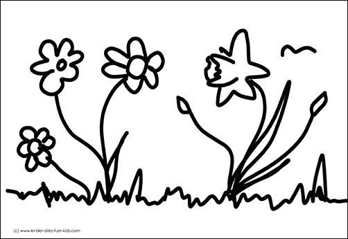 Einfache Ausmalbilder Ostern Frühling Zeichnungen Und