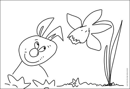 einfache ausmalbilder ostern frühling - zeichnungen und