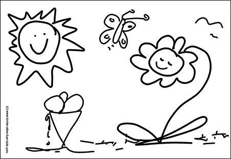 Kostenlose Malvorlagen - einfache Ausmalbilder - schöne Zeichnungen ...