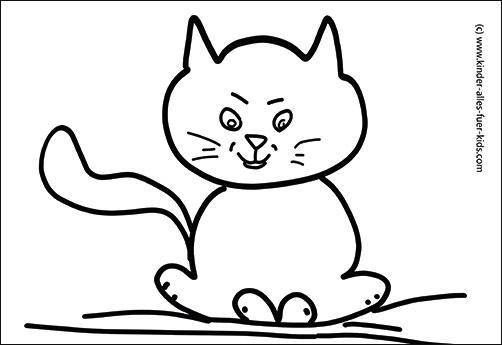 einhorn katze zum ausmalen - malvorlagen