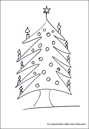 einfache malvorlagen für weihnachten - ausmalbilder - nikolaus, winter - zum ausmalen
