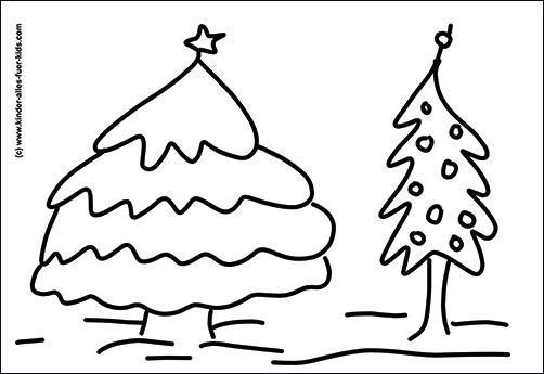 Einfache Malvorlagen Mit Weihnachtsbäumen Ausmalbilder Tannenbaum
